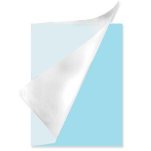 Schrift A4 ruit plastic Pastel blauw