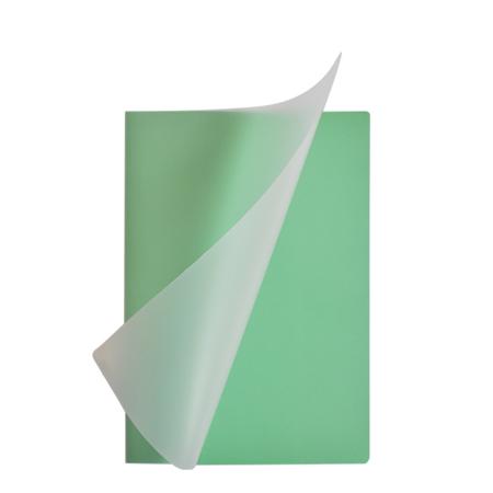 Schrift A5 lijn Pastel groen met plastic kaft