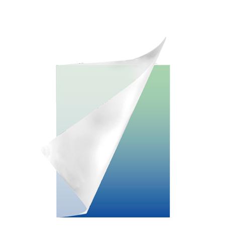 Schrift A5 lijn plastic Colorz blauw