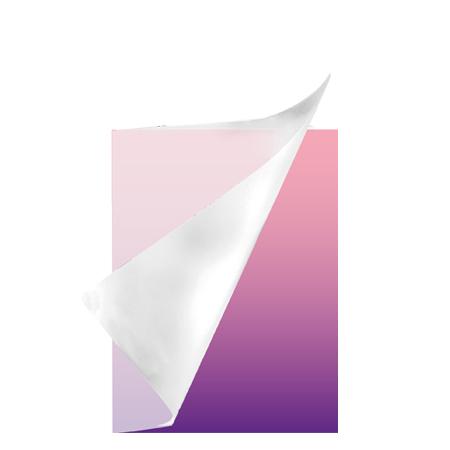 Schrift A5 lijn plastic Colorz paars