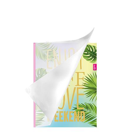 Schrift A5 lijn plastic Exotic
