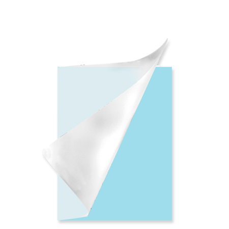 Schrift A5 lijn plastic Pastel blauw