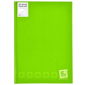 Schrift harde kaft A4 met lijn lime groen