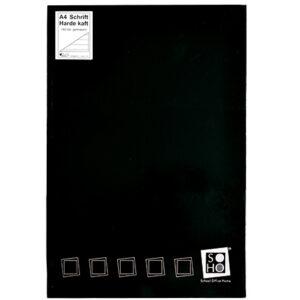 Schrift harde kaft A4 met lijn zwart