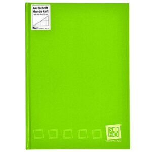 Schrift harde kaft A4 ruit Lime Groen