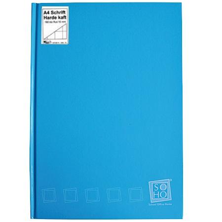 Schrift harde kaft A4 ruit Turquoise