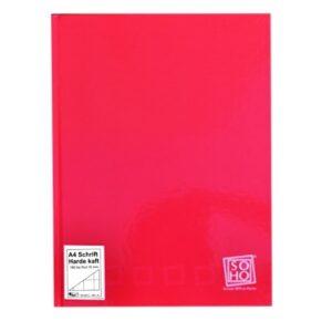 Schrift harde kaft A4 ruit rood