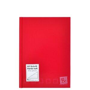 Schrift harde kaft A5 met lijn rood