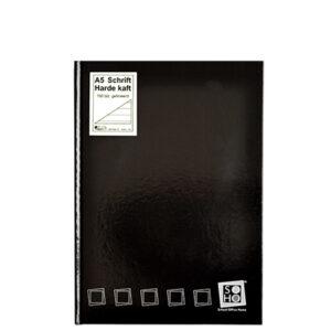 Schrift harde kaft A5 met lijn zwart