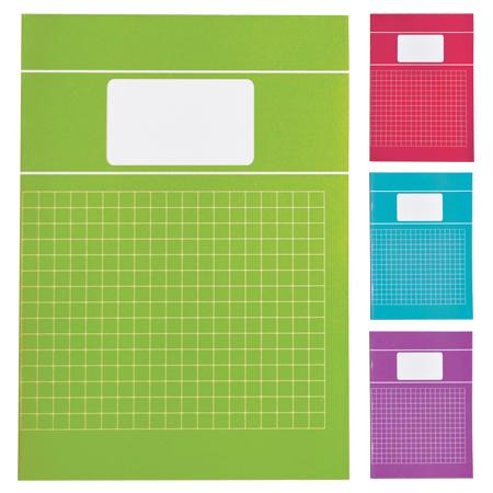 Schriften A4 ruit 10mm met kantlijn Trend
