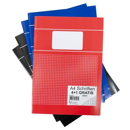 Schriften A4 ruit 5mm Basis kleuren