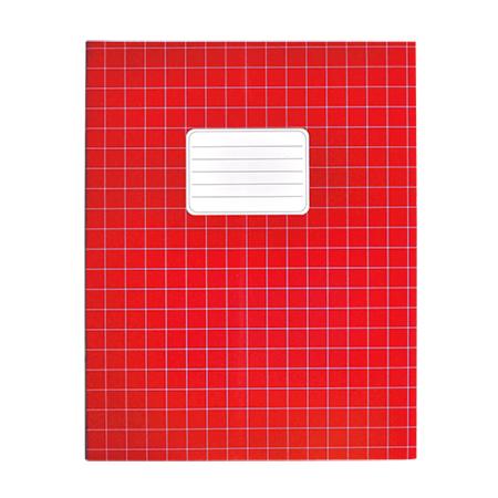 Schriften A5 ruit 10mm rood