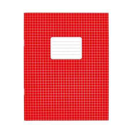 Schriften A5 ruit 5mm rood