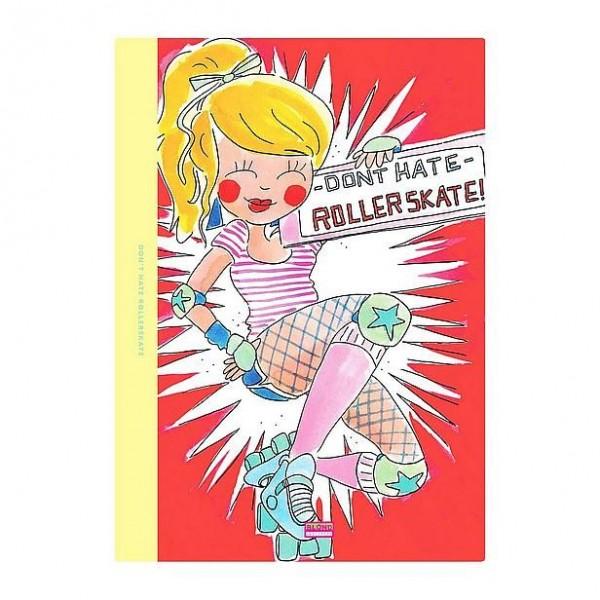 Schrift A4 lijn Blond Amsterdam Rollergirl