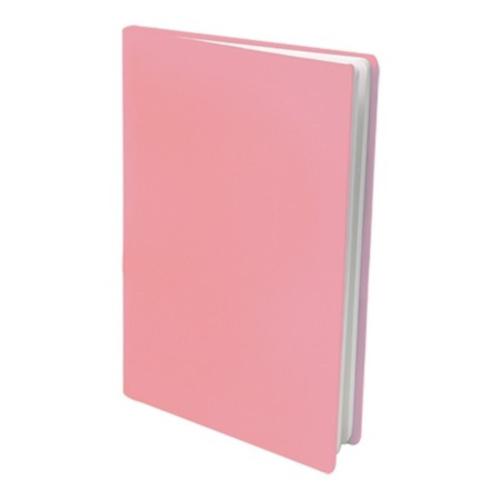 Rekbare boekenkaft pastel roze