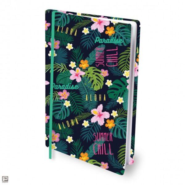 Rekbare boekenkaft tropical flower
