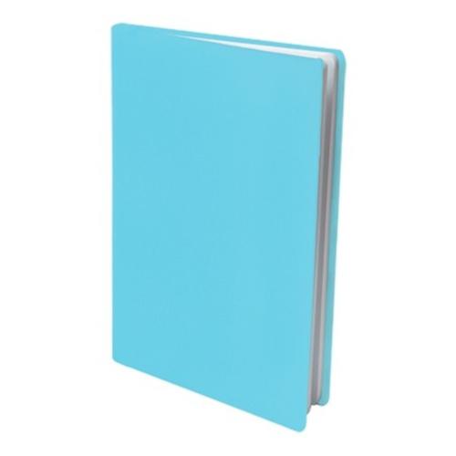 Rekbare boekenkaft pastel blauw