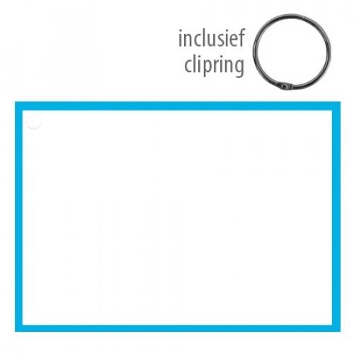 Flashcards A6 incl. clipring blanco