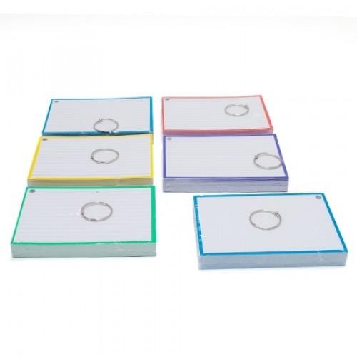 Aktie: 6 pakjes/kleuren Flashcards A6