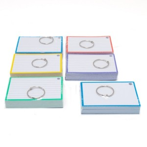 Aktie: 6 pakjes/kleuren Flashcards A7