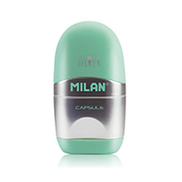Puntenslijper met gum Milan pastel groen