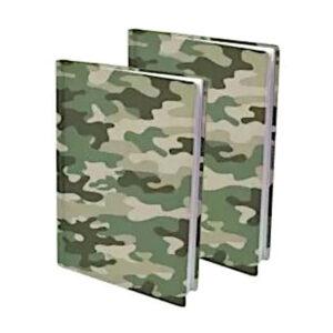 Rekbare boekenkaft camouflage 2pak
