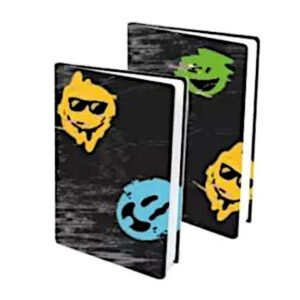 Rekbare boekenkaft happy glitch 2pak